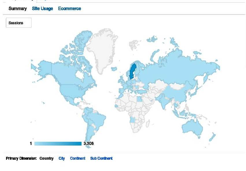 Location - Google Analytics country