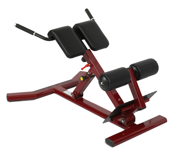 Back Extension Bench En Angled Pads And Lower Rollers Combine To